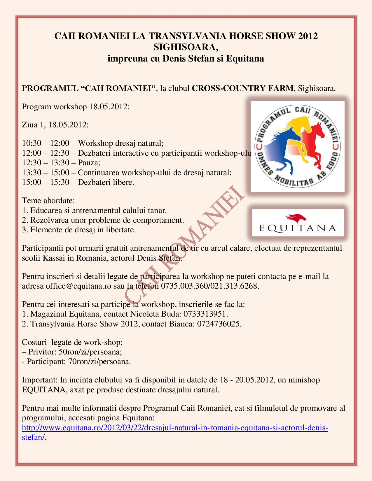 CAII ROMANIEI LA TRANSYLVANIA HORSE SHOW 2012 SIGHISOARA