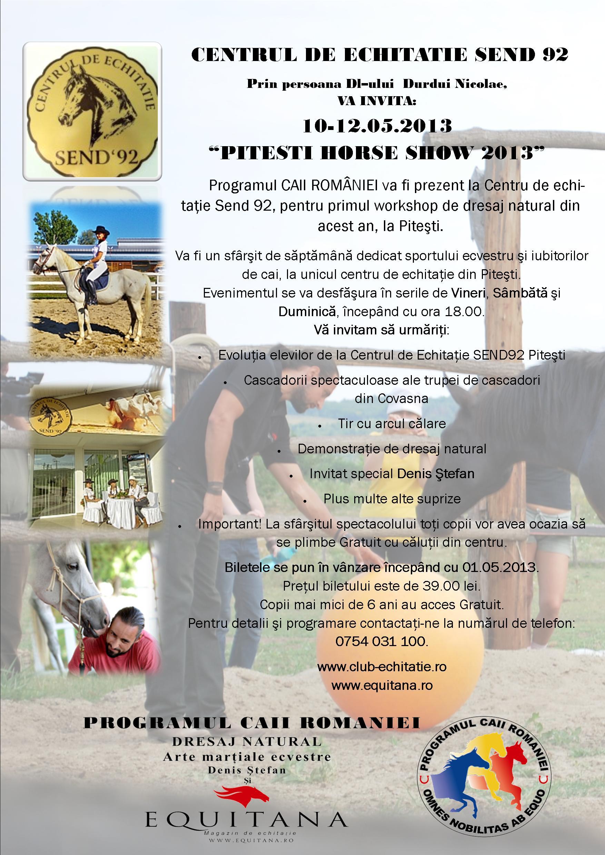 SPECTACOL ECVESTRU: PITESTI HORSE SHOW 2013