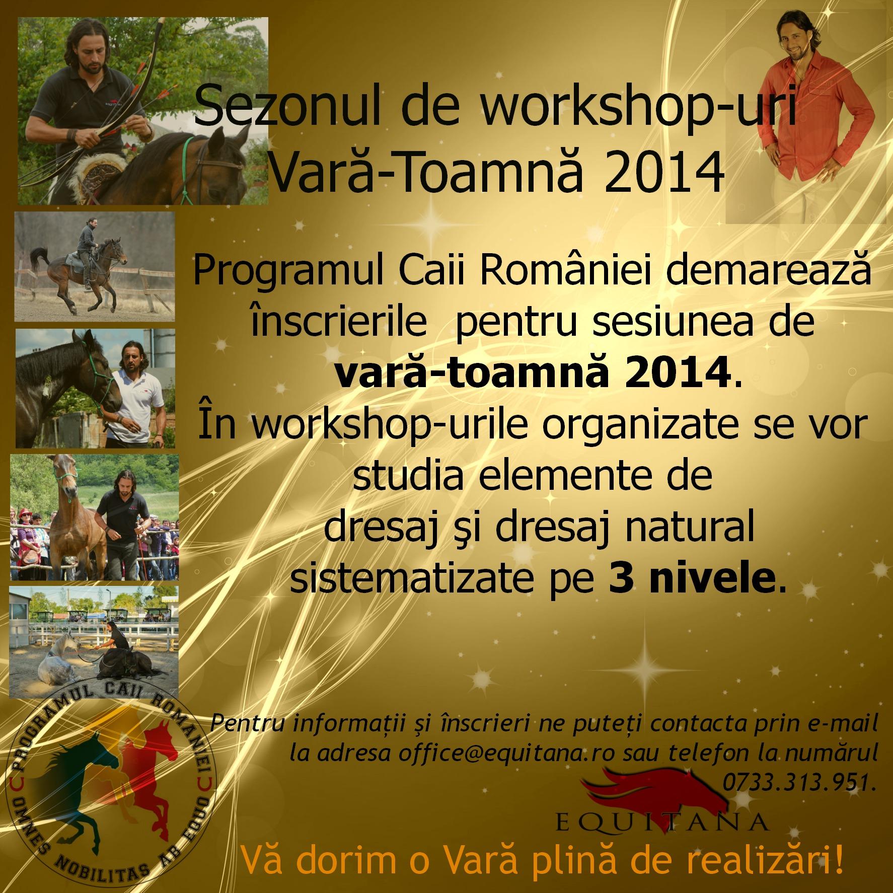 Sezonul de workshop-uri Vară-Toamnă 2014, Caii României