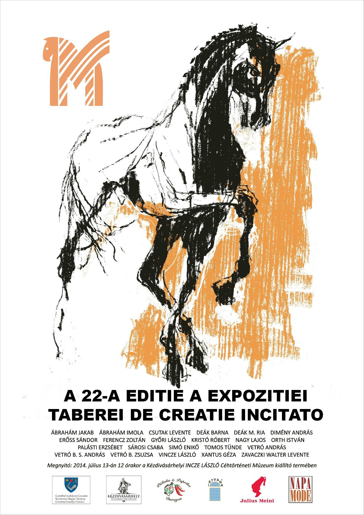Expoziția taberei de creație Incitato la Târgu Secuiesc, jud. Covasna
