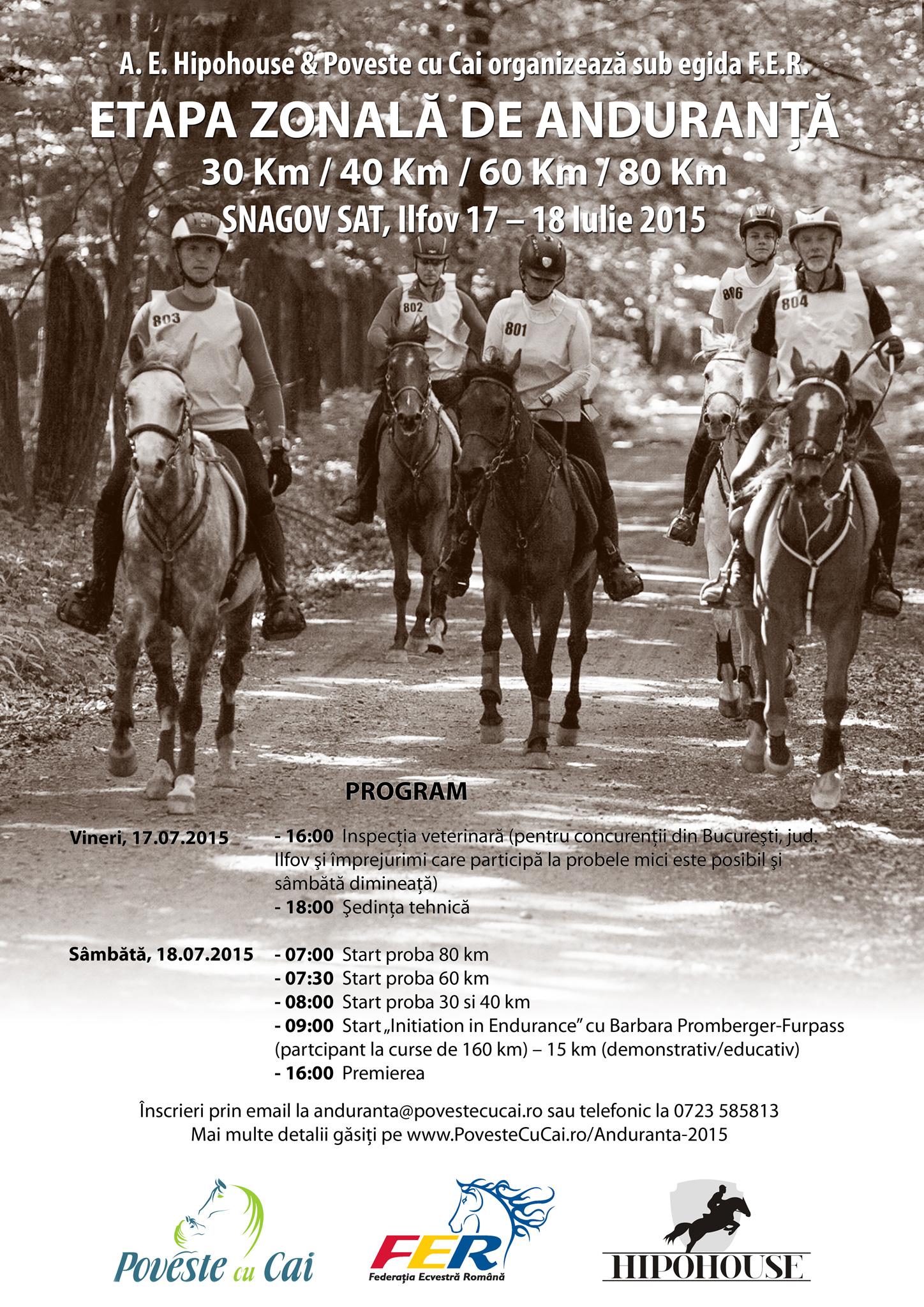 Concurs naţional de anduranţă la Snagov
