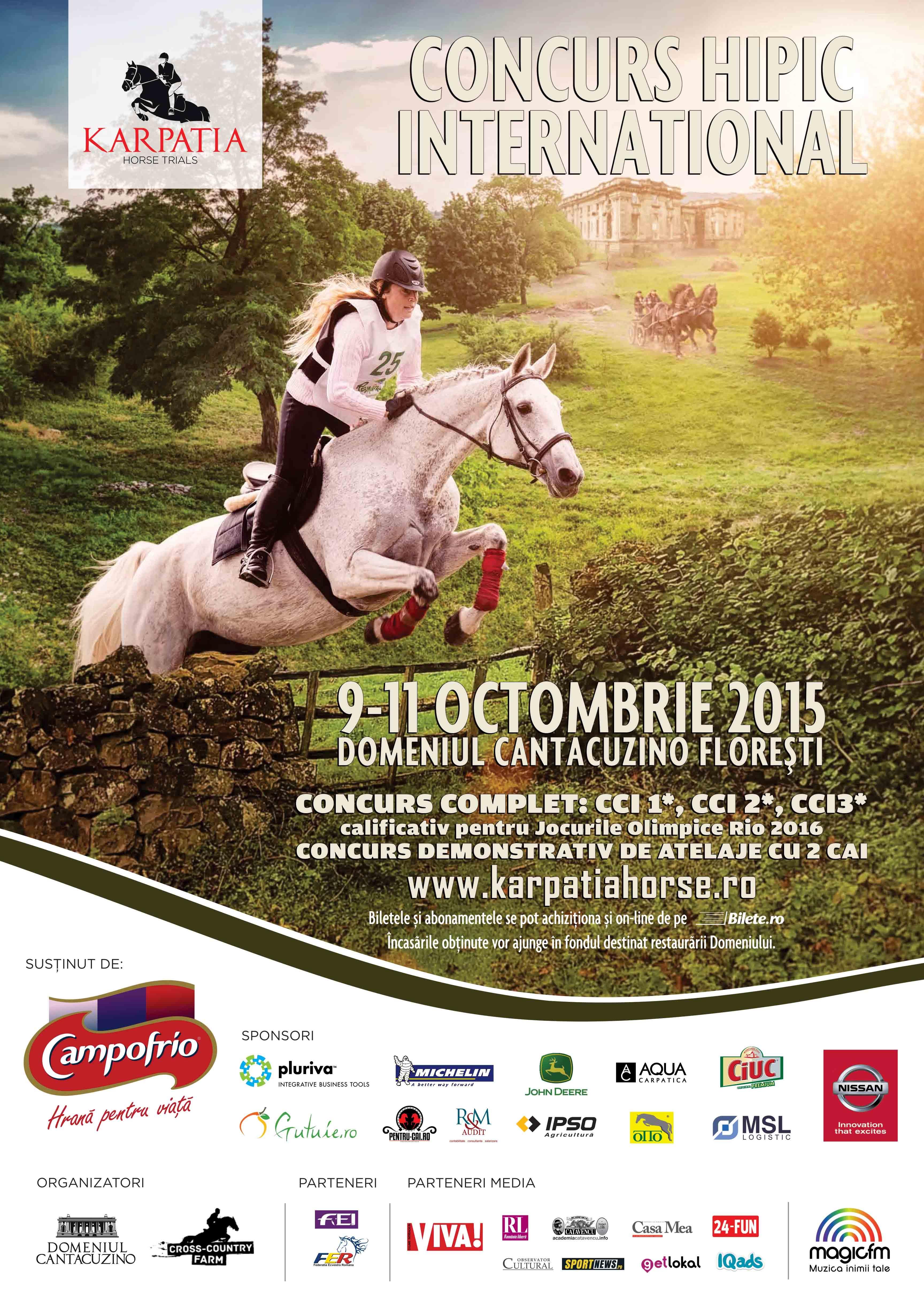 Karpatia Horse Trials 2015: reîntoarcerea pe Domeniul Cantacuzino Floreşti
