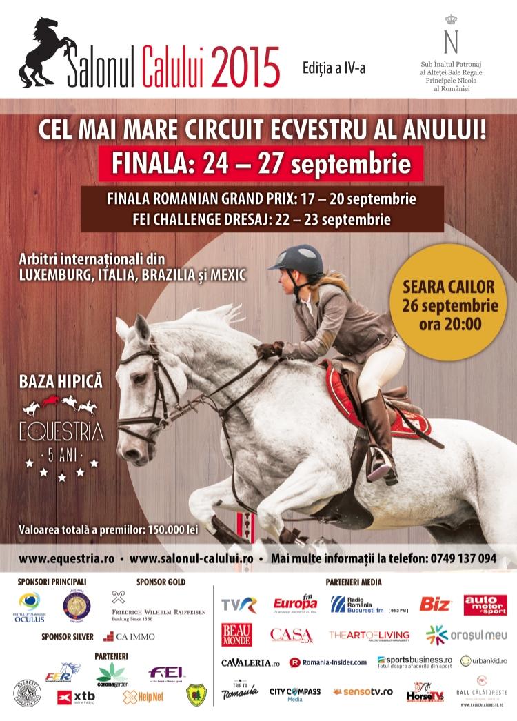 Finala circuitului Salonul Calului are loc între 24 - 27 septembrie la Equestria