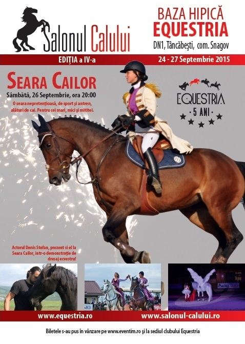 """""""Seara Cailor"""", un spectacol sportiv alături de cai, pentru toate vârstele"""