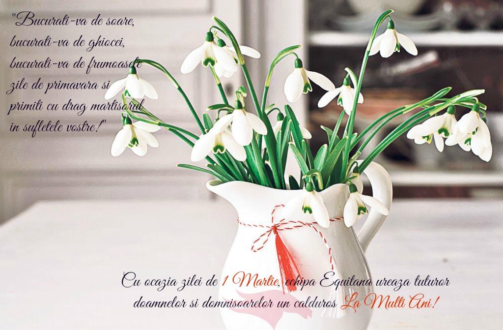 Equitana vă doreşte o primăvară frumoasă şi la mulţi ani de mărţişor