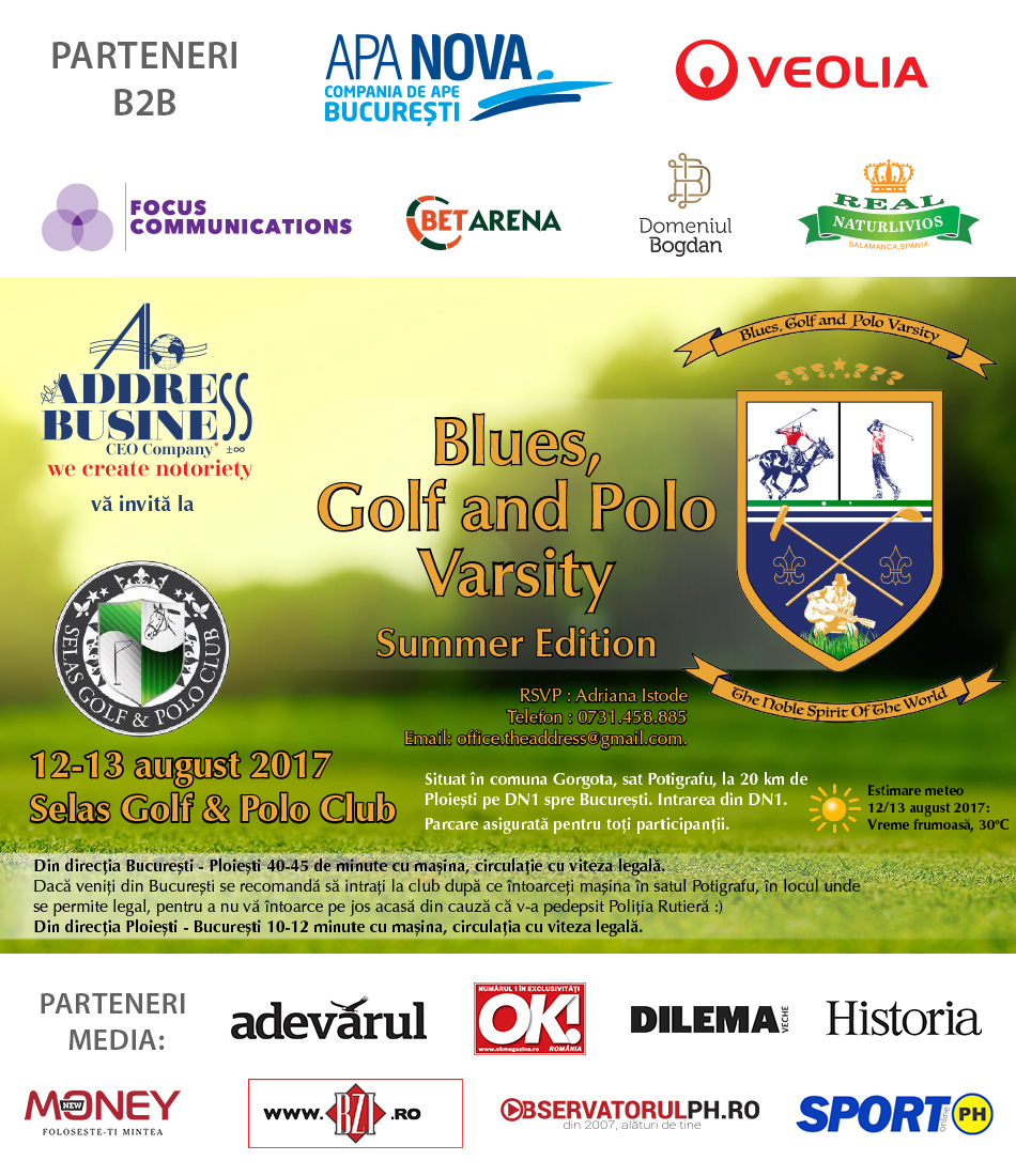 Blues, Golf and Polo Varsity, Ediția I