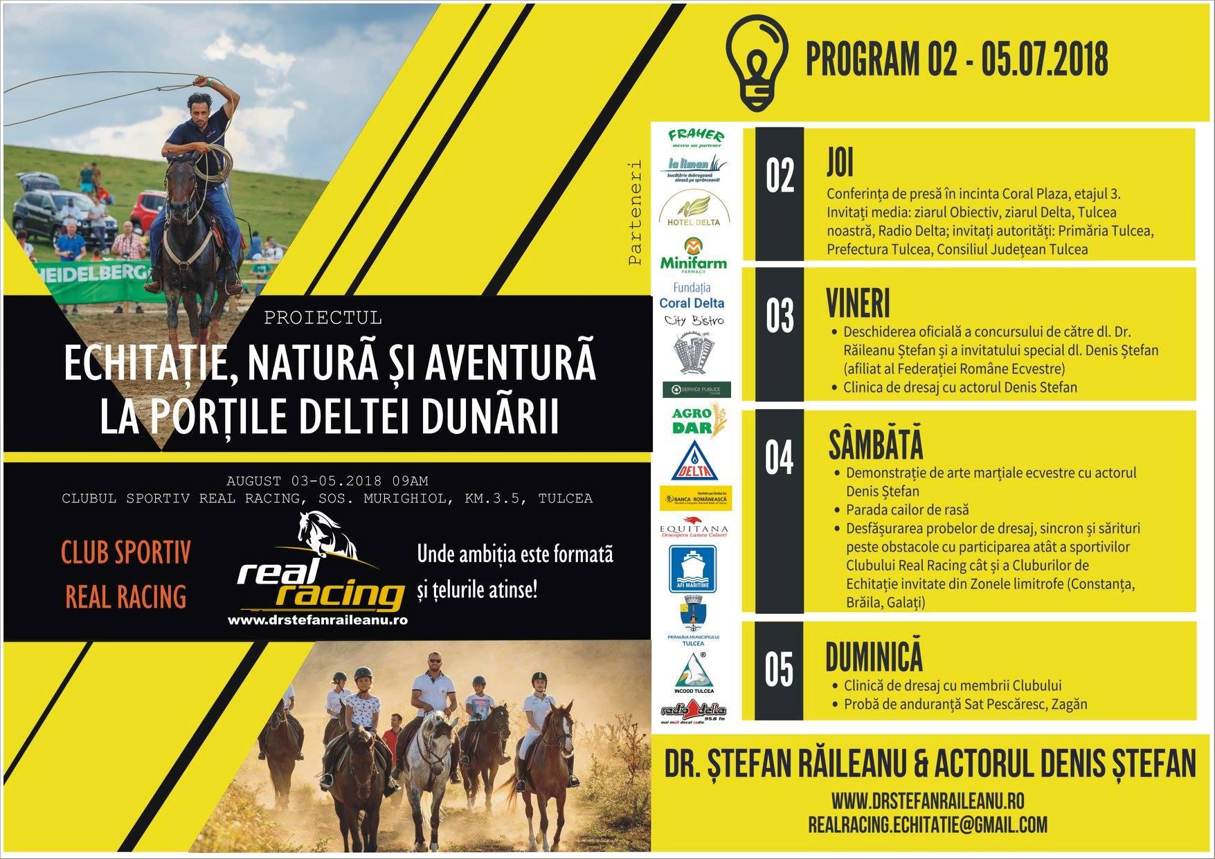 Proiectul Echitație, Natură și Aventură la Porțile Deltei Dunării