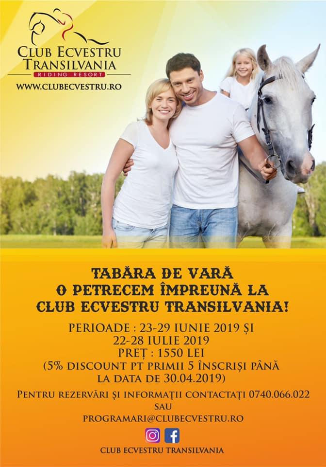 Tabăra de echitație la Clubul Ecvestru Transilvania, Șelimbăr, jud. Sibiu