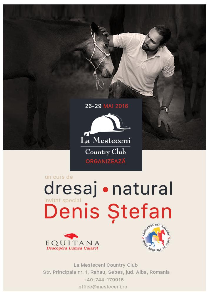 "Workshop de dresaj natural la Country Club ""La Mesteceni"""