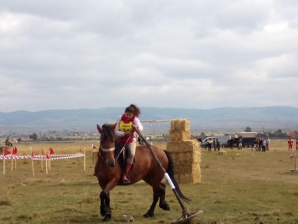Concurs de îndemânare pentru călăreți cu ocazia zilei de Sfântul Mihail la Ciceu, județul Harghita