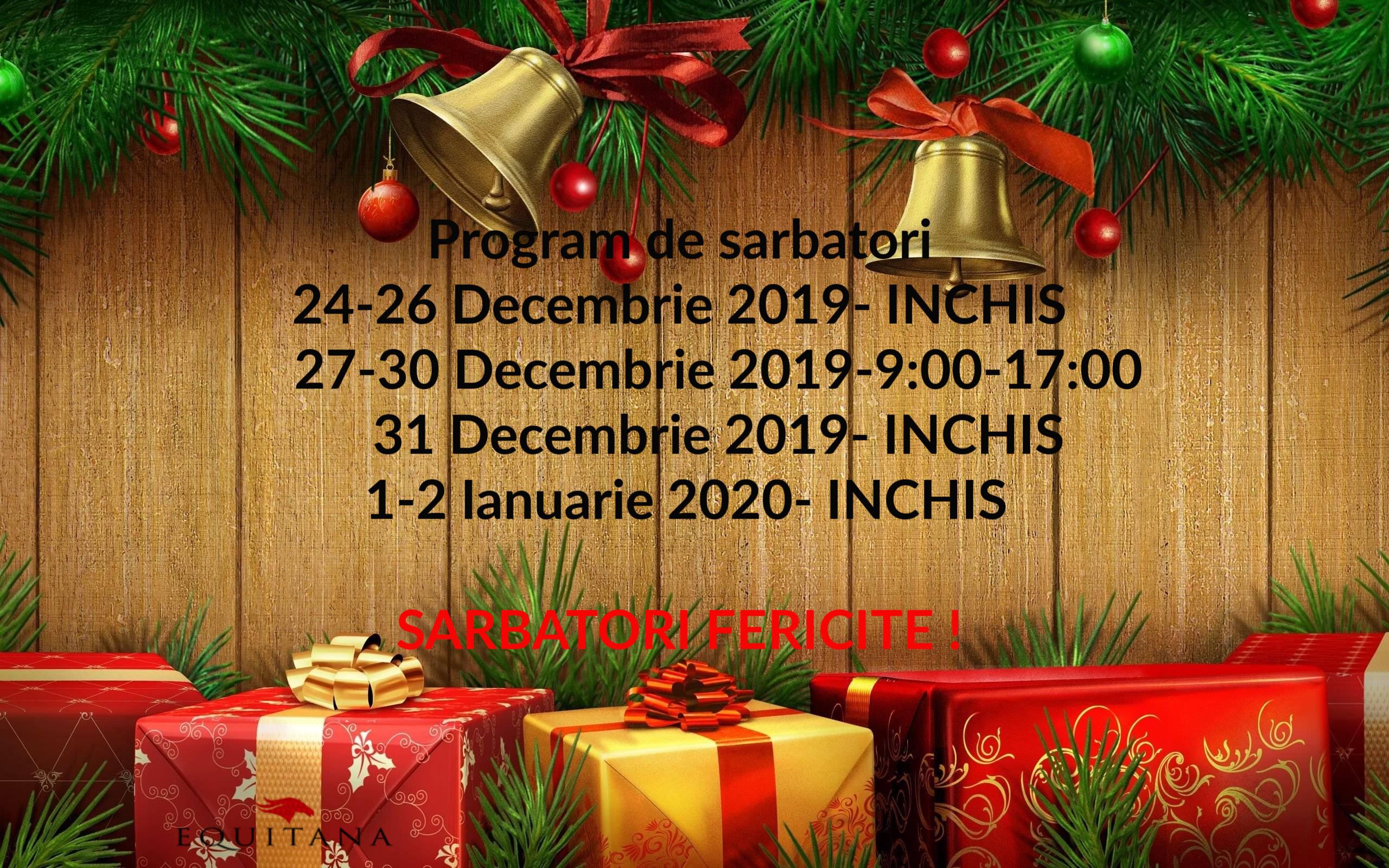 Progam de sărbători 2019-2020