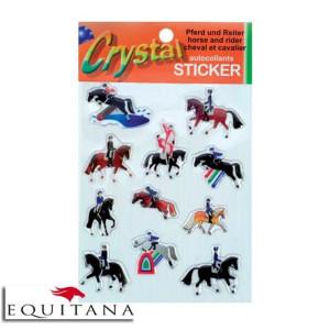 Autocolant Crystal cu cai si calareti